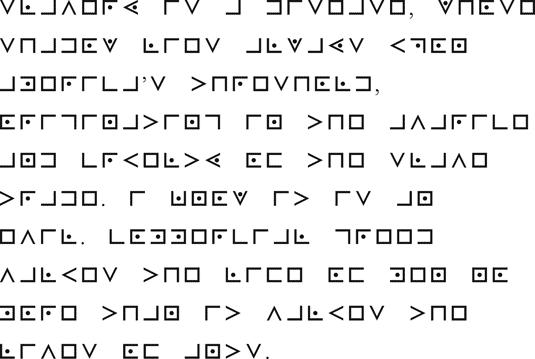 Trabalho no grau de aprendiz sobre o alfabeto maçônico.